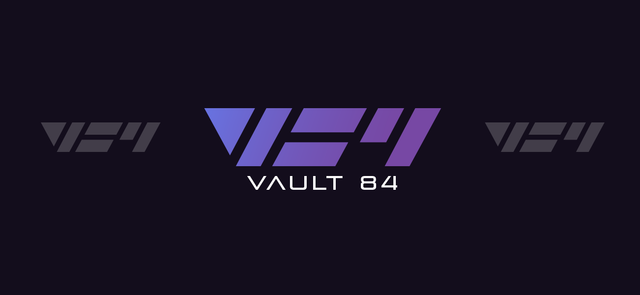 Vault 84 Poster Shop Logo and Branding by WildeThang
