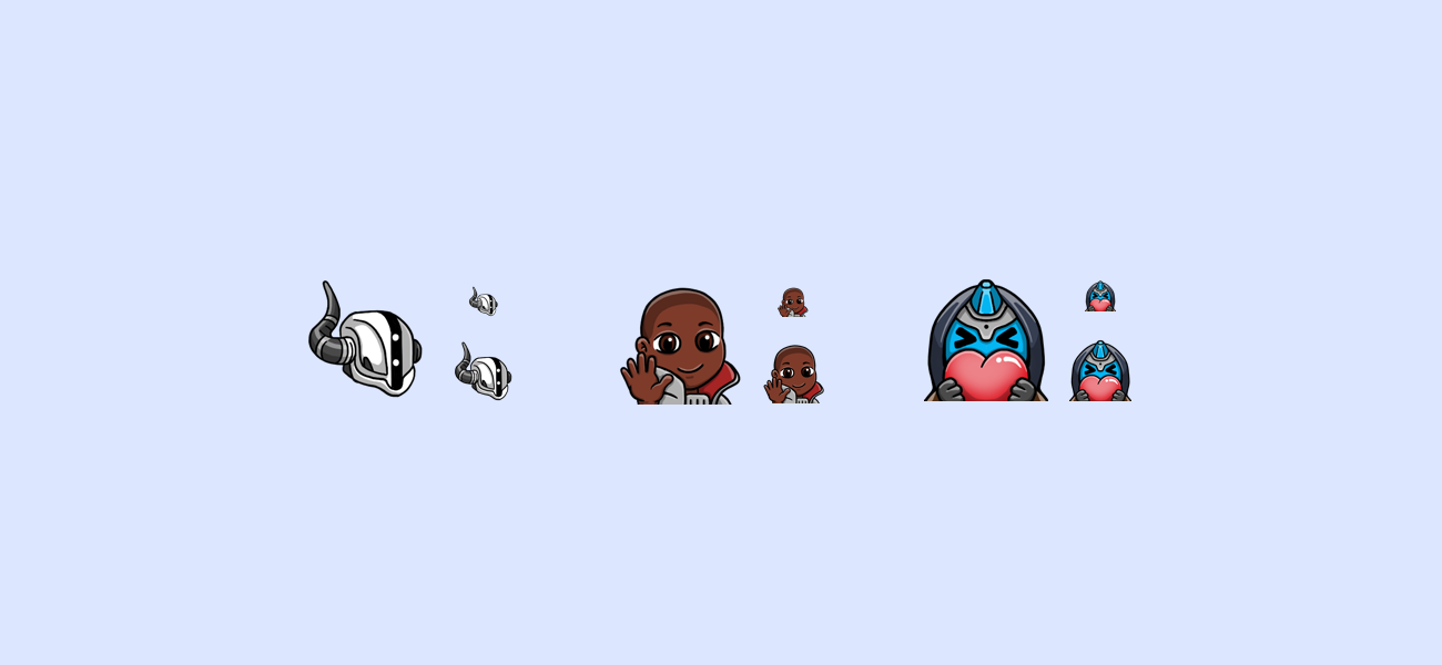 SirDuncie's Destiny Shaxx, Ikora, Cayde Twitch Emotes by WildeThang