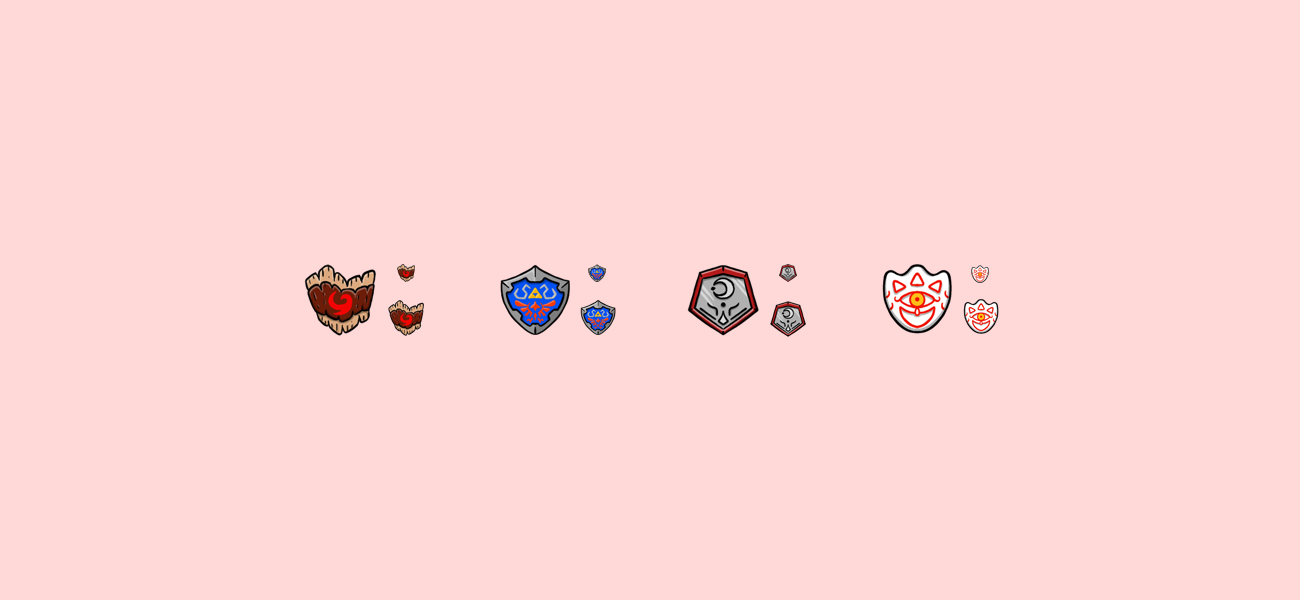 Nubtron's Zelda themed Twitch subscriber badges