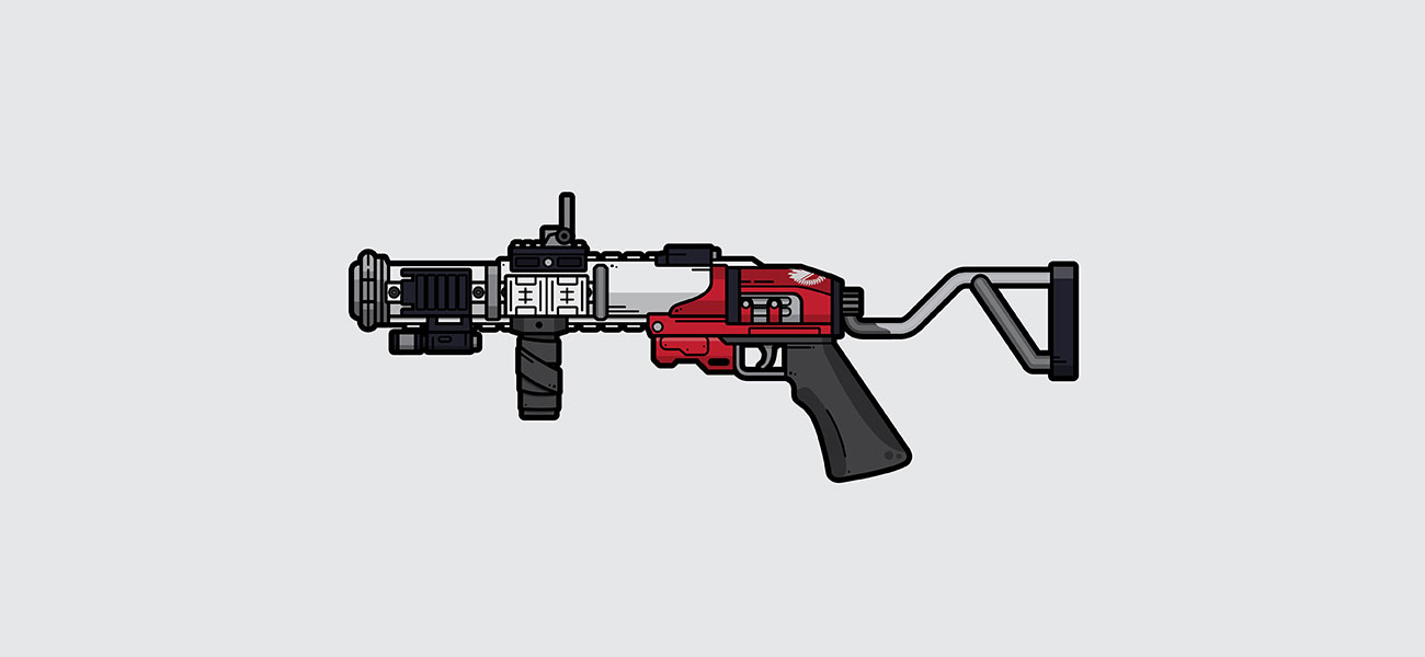 Destiny 2 The Mountaintop grenade launcher illustration designed by WildeThang