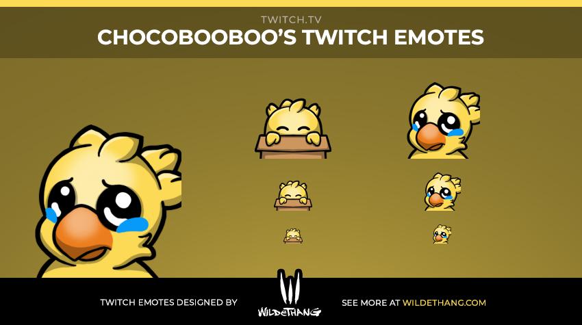 Chocobooboo Chocobo Twitch Emote designed by WildeThang