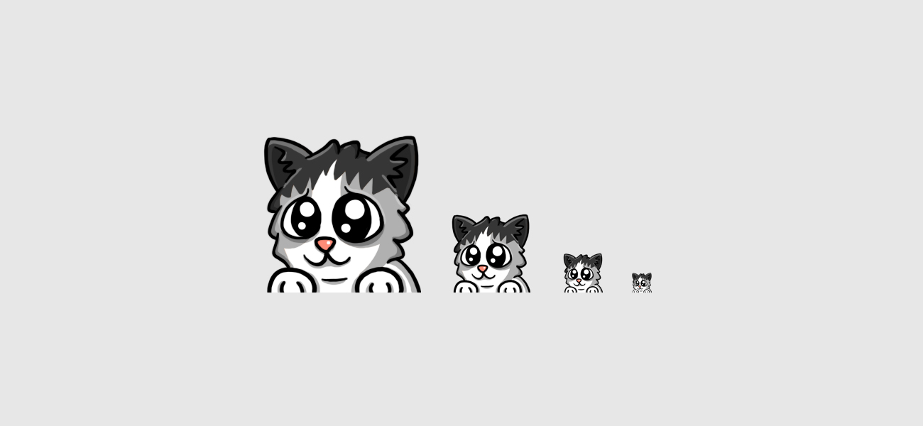 Molito's Kitten Cat Twitch Emote designed by WildeThang
