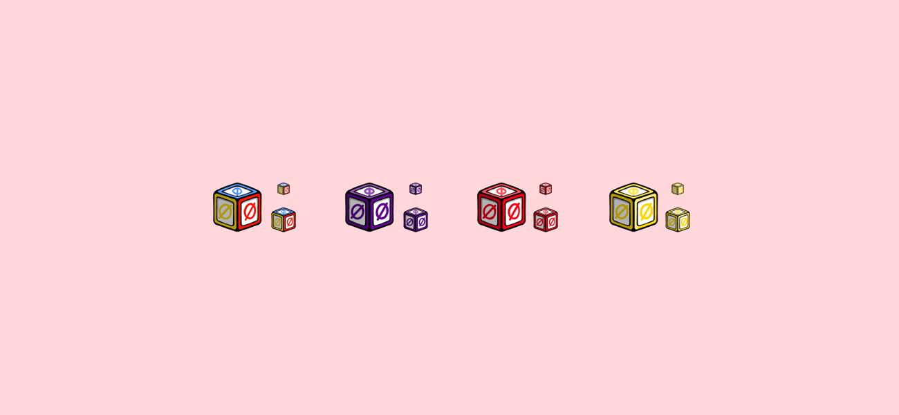 Alphobet's Alphabet Blocks Twitch Subscriber Badges by WildeThang