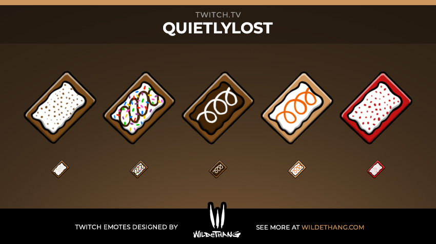 QuietlyLost's Twitch Pop Tart Subscriber Badges design by WildeThang