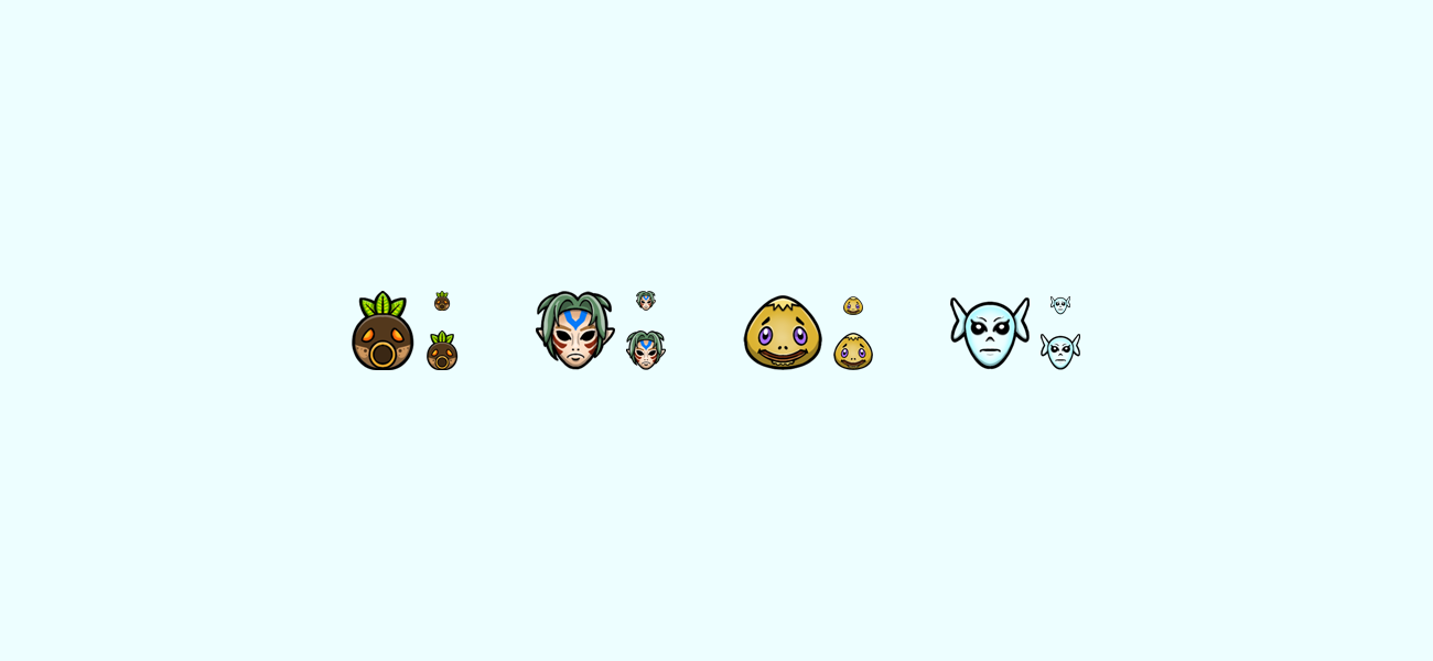 Dokodo's Zelda themed Twitch subscriber badges designed by WildeThang