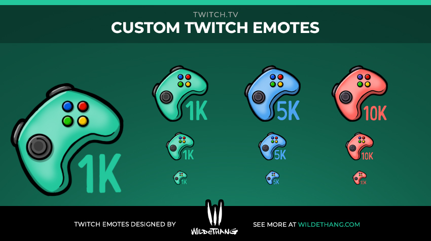Custom Controller Twitch Emotes designed by WildeThang