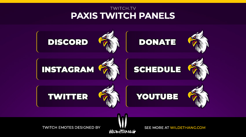 Paxis custom eagle twitch panels designed by WildeThang