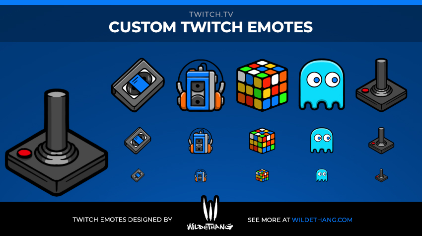 AnotnioCheca's Retro Gaming Twitch Emotes designed by WildeThang