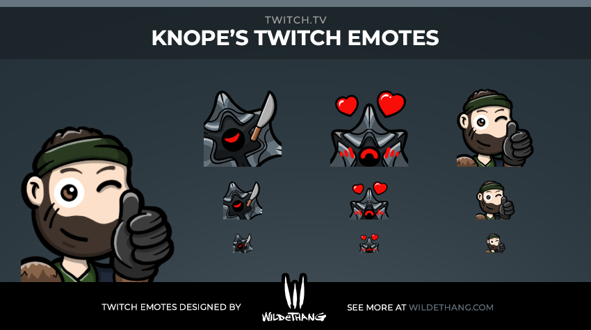 Knope's Destiny Twitch Emotes including 2 harpy emotes and a Drifter emote designed by WildeThang