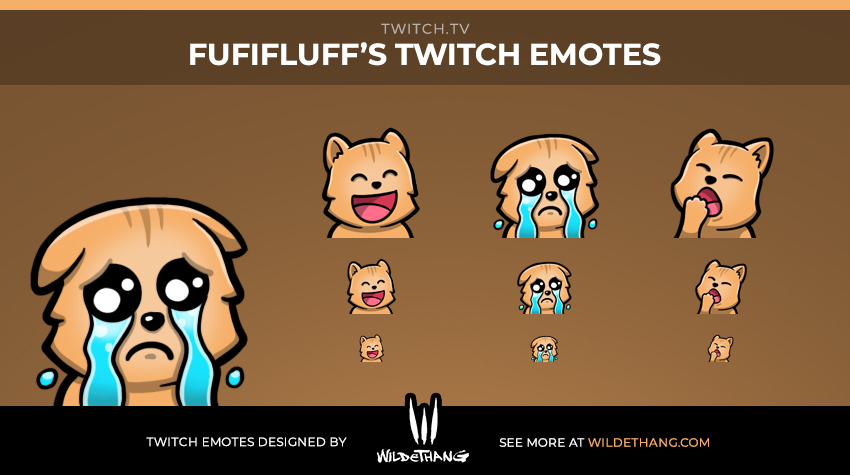 Fufifluff's Cat Twitch emotes designed by WildeThang