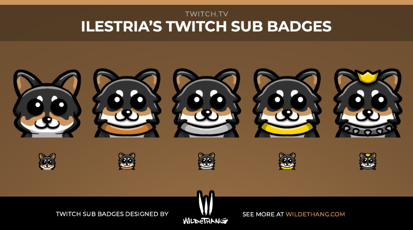 Ilestria Dog Subscriber Badges designed by WildeThang