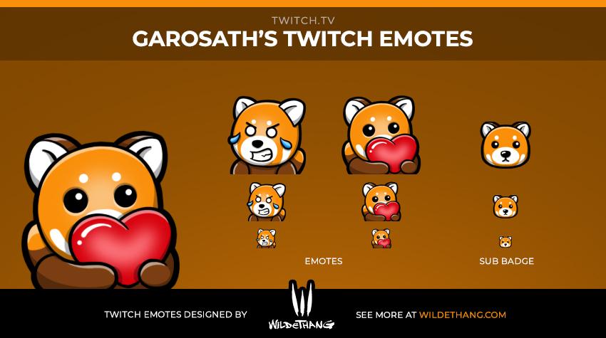 Garosath's Teddy Twitch Emotes designed by WildeThang Twitch Emote artist