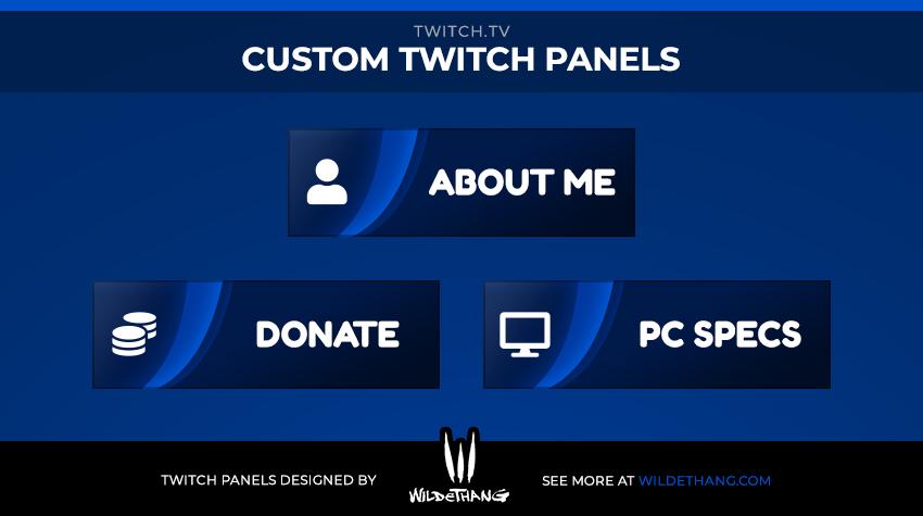 Miloszikic Custom Twitch Panels designed by WildeThang - Twitch Emote Artist